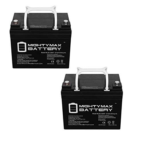 Mighty Max Battery 12V 35AH INT Battery Replaces Rascal 600T in-Outdoor Scooter - 2 Pack Brand Product
