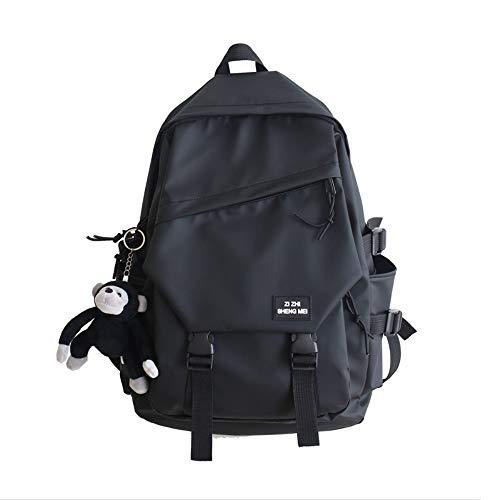 Backpack Rucksack Backpack Bag High School Student Shoulder Bag Campus Black Travel Bag 28 X 42 X 14Cm