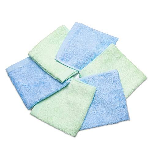 Ko&Pro Hygienische Bambus Tücher | 6x Allzwecktücher 25x25 cm | Inklusive Zwei Reinigerrezepte | Reinigungstücher Küchentücher Putztücher Poliertücher Gästehandtücher