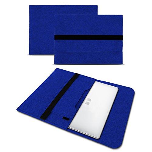 UC-Express Sleeve Hülle kompatibel für Trekstor Primebook P13 P14 P14B Tasche Filz Notebook Cover 14,1 Laptop Hülle, Farbe:Blau