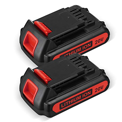 Upgraded 2500mAh 20 Volt MAX Lithium Ion Battery LBX20 Replace for Black+Decker 20V Max Lithium Battery LBXR20 LB20 LBX20 LBXR20-OPE LBX4020 LB2X4020-OPEBlack Decker 20v Battery