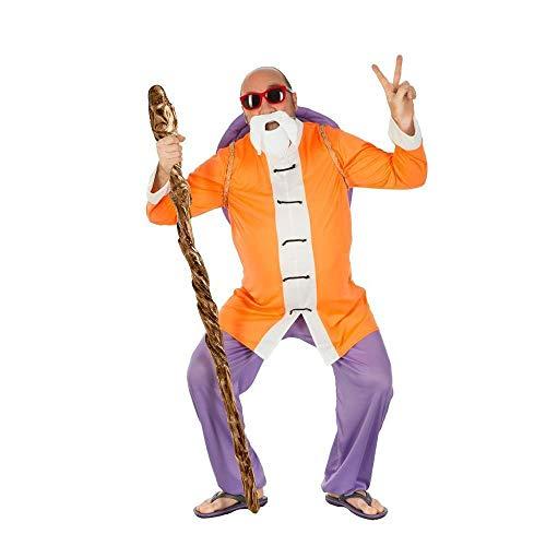 Dragon Ball Costume Muten Roshi 4 Pezzi Viola Arancio - M
