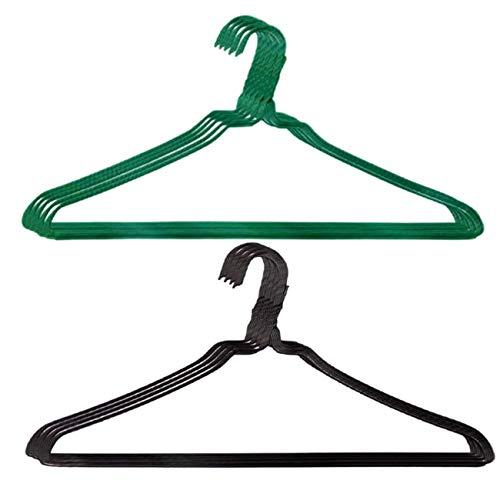 オリタニ 針金ハンガー 2色【訳あり】20本セット 洗濯 収納 (緑×黒)