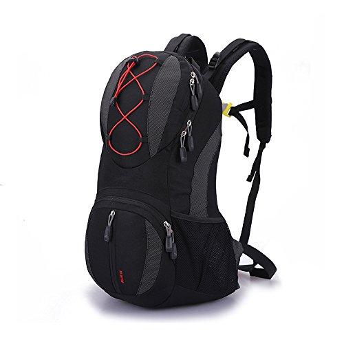 Lily's Locker 20L Trekking Rucksack (47cm x 26cm x 15cm) Mann und Frauen Outdoor Taschen für Casual, Klettern Radfahren Wandern Biken und andere Aktivitäten (Schwarz)