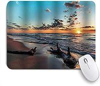 ZOMOY マウスパッド 個性的 おしゃれ 柔軟 かわいい ゴム製裏面 ゲーミングマウスパッド PC ノートパソコン オフィス用 デスクマット 滑り止め 耐久性が良い おもしろいパターン (夕暮れの曇り空で湖の居心地の良い素敵な流木)