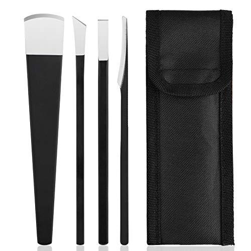 4pcs Pedicure Knife Set, Segbeauty Ingrown Toenail Knife, Correction Nippers Clipper Remover with Carry Bag, High Manganese Steel Nail Care Foot Repair Cutter for Calluses, Beauty Salon Home Use