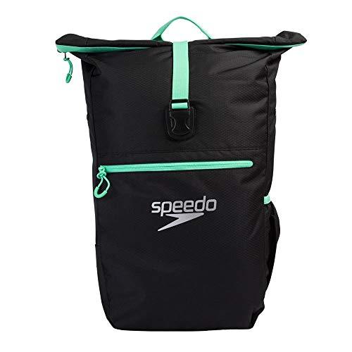 Speedo Unisex-Erwachsene Team Rucksack Iii, Schwarz/Grun, Einheitsgröße