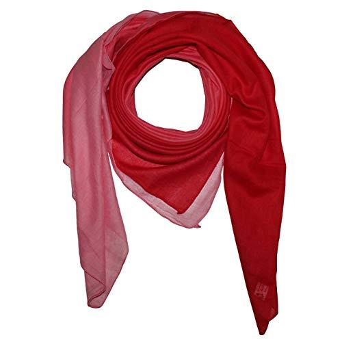 Superfreak Baumwolltuch mit Farbverlauf - Tuch - Schal - 100x100 cm - 100% Baumwolle Farbe rot