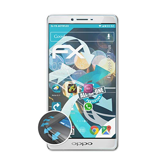 atFolix Schutzfolie kompatibel mit Oppo R7 Plus Folie, ultraklare & Flexible FX Bildschirmschutzfolie (3X)