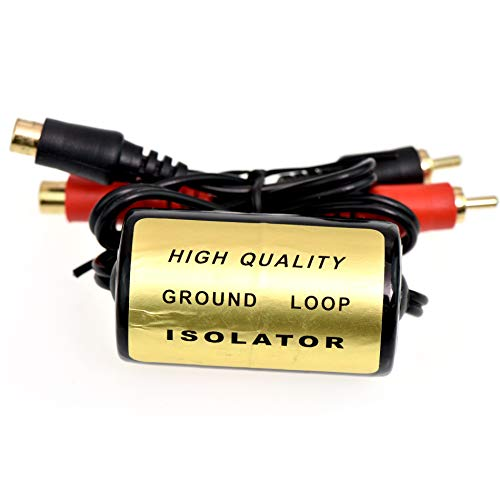 Yihao for Ground Loop Isolator Noise Suppressor Filter Killer RCA to RCA 20 Amp Ad-104