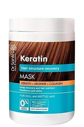 Dr. Sante Maske, die die Struktur des stumpfen und brüchigen Haares von Keratin, Arginin und Kollagen wiederherstellt, 1100 g