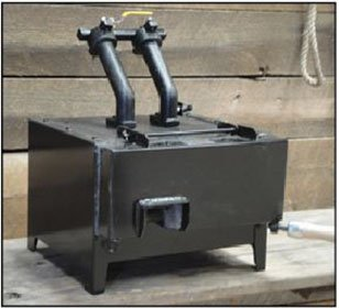 NC TOOL Whisper Billy 2 Burner Gas Forge