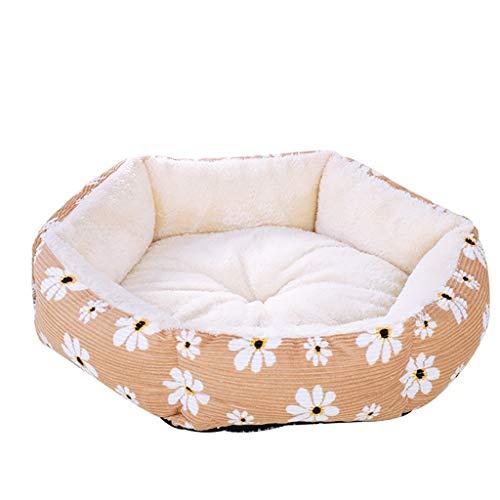 Fenverk Hundebett Haustierbett für Katzen und Hunde Rechteck Ultra Weicher Plüsch luxuriöse Haustier-Schlafsack Maschine waschbar(Yellow,S/37 x 31 x 17cm)