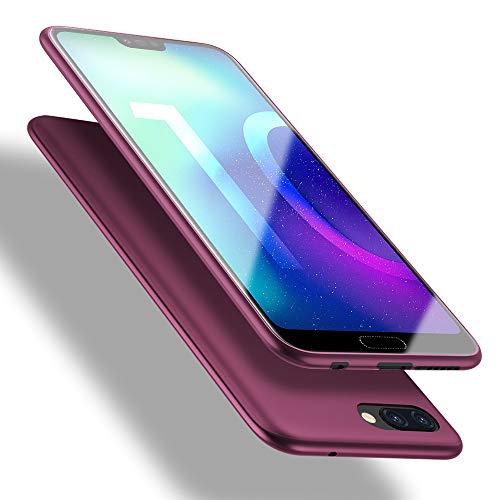 Honor 10 Hülle, [Guardian Serie] Soft Flex Silikon Premium TPU Echtes Telefongefühl Handyhülle Schutzhülle Kompatibel mit Honor 10 Case Cover - Weinrot