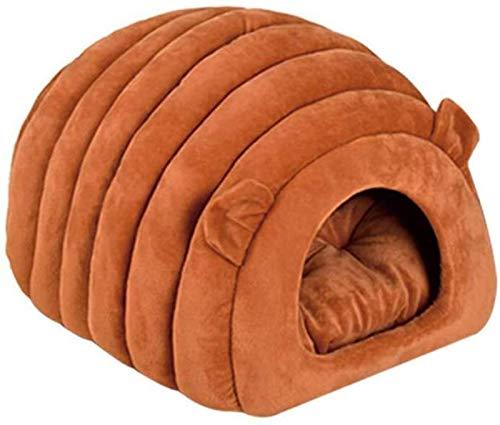 EREW Cama para mascotas, mullida cama para perro, mullida, para gato, saco de dormir semicerrado, cálido y suave, semicerrado, lindo nido de oveja, saco de dormir de invierno cálido