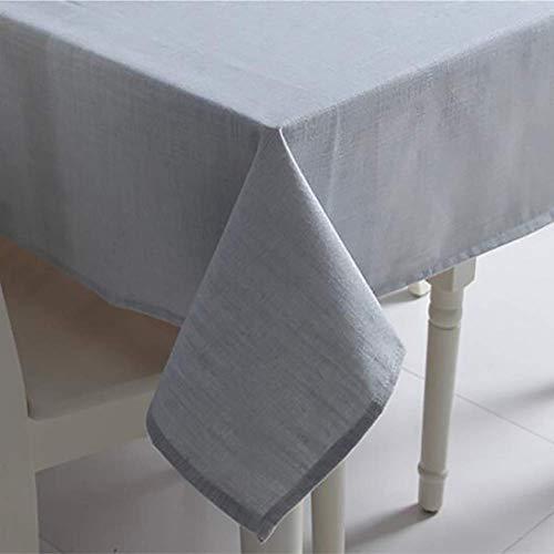 JLYZB Japanse jute tafelkleed, rechthoekige tafellinnen Effen kleur Stain Resistant Tafelblad Decoratie Tafelkleed Voor Keuken Dineren - een 140x200cm (55x79inch)