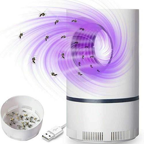 JULUCLKJ Lámpara LED para matar mosquitos, USB fotocatalítico trampa de mosquitos eléctrica, lámpara repelente de mosquitos portátil para dormitorio, cocina, oficina