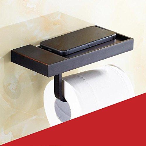Accessoires de salle de bain Noir Téléphone Mobile Titulaire Cuivre Matériel De Luxe Retro Rollsnownow