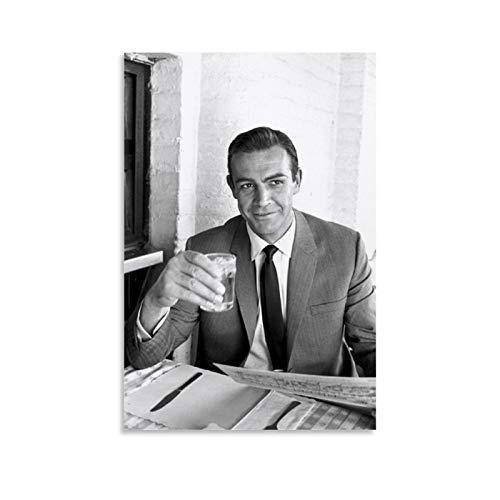 NQSB Film Stars Sean Connery 007 James Bond 27 - Stampa artistica su tela e stampa artistica da parete, 50 x 75 cm