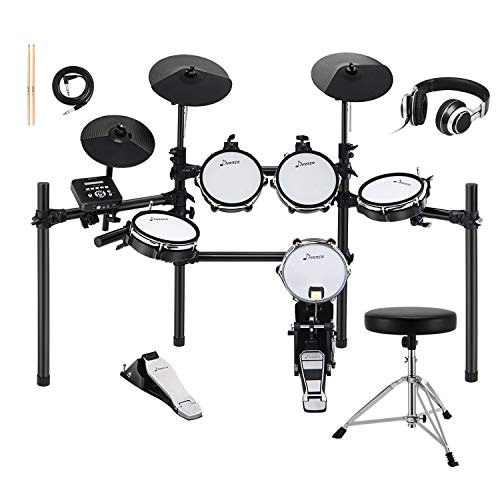 Donner DED-200 Electric Kit Electronic with Mesh Head 8...