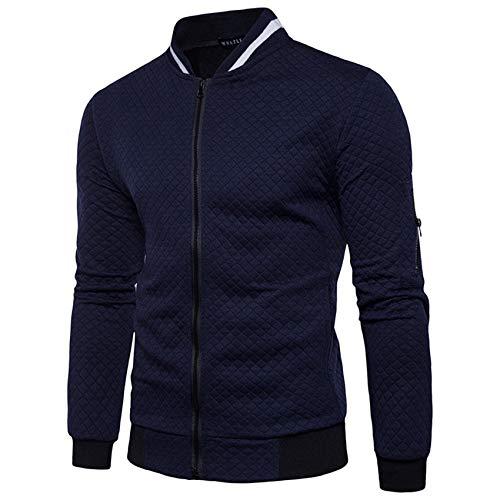 CáRdigan De SuéTer A Cuadros Camisa De Cremallera De Chaqueta De Moda De SuéTer Informal Deportivo para Hombre