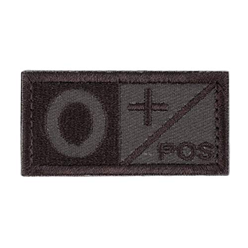 Parche de tipo de sangre bordado rectangular estilo cosido 3D A/B + POS NEG Coyote Tan OD Green Disponible Patch Patch Cloth OD Green Jasnyfall