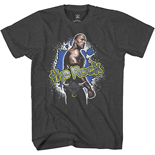 WWE Camiseta The Rock para hombre – The Brahma Bull Superstar Tee – World...