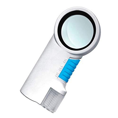 HD LED Licht Kunststoff Lupe Handheld alte Lesung Wertschätzung Taschenlampe Funktion Lupe Weiß 8X