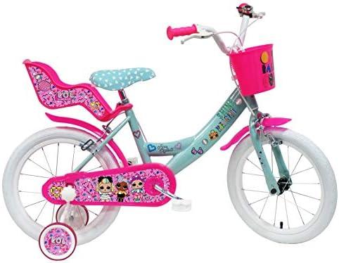 """Denver Bike 16 Lol Bicicleta Ciudad 40,6 cm (16"""") Acero Rosa, Turquesa, Blanco Niñas"""