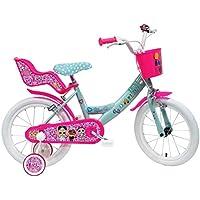 "Denver Bike 16 LOL bicicletta Ciudad 40,6 cm (16"") Acero Rosa, Turquesa, Blanco Niñas - Bicicleta (Vertical, Ciudad, 40,6 cm (16""), Acero, Rosa, Turquesa, Blanco, 40,6 cm (16""))"