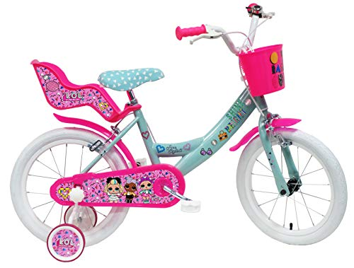 Denver Bike 16 Lol City Bike 40.6 cm (16') Steel Pink, Turquoise, White Girls – Bicycle (Vertical,...