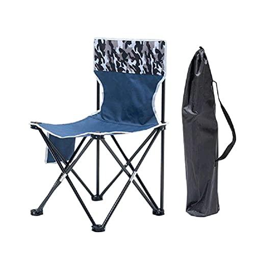 Sillas de camping plegables al aire libre Sillas de campamento portátiles apoyo 150kg con bolsa de almacenamiento plegable equipo de pesca para senderismo playa