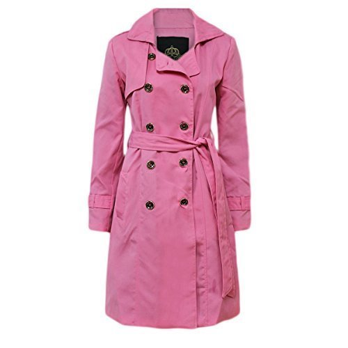 Candy Floss New Womens Trench Button Ladies MAC Double