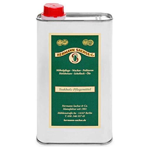 Hermann Sachse Teakholz-Pflegemittel 500ml farblos für Gartenmöbel Holzöl aussen zur Erst- und Nachbehandlung Teaköl Hartholz Pflege