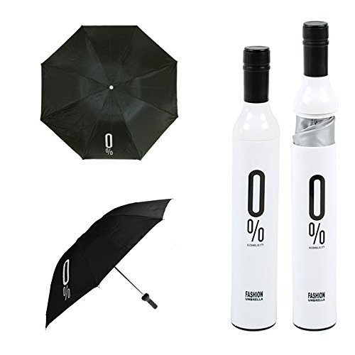 Regenschirm in Form einer Weinflasche, originelle Geschenkidee
