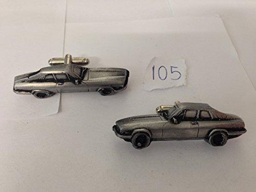 Jaguar XJS Coupe 3D-Manschettenknöpfe Zinn-Manschettenknöpfe Oldtimer ref105