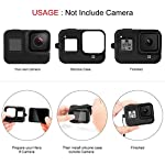 Deyard 60M Waterproof Case Compatible with GoPro Hero 8 Black Underwater Waterproof Protective Housing Case for GoPro… 9 Compatible Size: Specially designed for GoPro Hero 8. Easily operate the shutter/power button or select key/ Mode button underwater with an external button. Upgrade Convenience & Water Resistance: With an integrated design, convenient and time-saving to install and remove. The buckle is fastened with a buckle and a waterproof seal, which is good for extreme sports. 196ft Waterproof Depth & Superior Shockproof Thick Shell: With high strength shell, this GoPro case waterproof up to 196ft/60M. Protect your GoPro action camera for extreme sport like surfing, diving, snorkeling, skiing, drifting, skydiving cycling, etc.