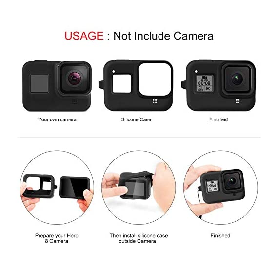 Deyard 60M Waterproof Case Compatible with GoPro Hero 8 Black Underwater Waterproof Protective Housing Case for GoPro… 3 Compatible Size: Specially designed for GoPro Hero 8. Easily operate the shutter/power button or select key/ Mode button underwater with an external button. Upgrade Convenience & Water Resistance: With an integrated design, convenient and time-saving to install and remove. The buckle is fastened with a buckle and a waterproof seal, which is good for extreme sports. 196ft Waterproof Depth & Superior Shockproof Thick Shell: With high strength shell, this GoPro case waterproof up to 196ft/60M. Protect your GoPro action camera for extreme sport like surfing, diving, snorkeling, skiing, drifting, skydiving cycling, etc.