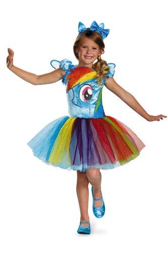 Hasbro's My Little Pony Rainbow Dash Tutu Prestige Girls Costume, Small/4-6x