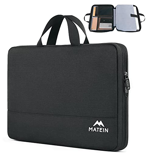 MATEIN Laptophülle 15.6 Zoll, Laptop Hülle Wasserdicht Laptoptasche Schutzhülle mit Griff, Laptop Sleeve Notebook PC Case für 15 - 15 6 Zoll HP Lenovo Acer Chromebook Dell, Schwarz
