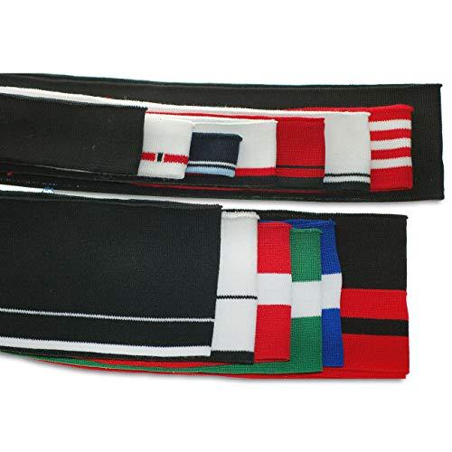 Patrón de rayas Cintura de punto Costillas de punto Puños de ribete, Banda para el cuello, Chaquetas. Neotrims. N6 White w/Black Stripe
