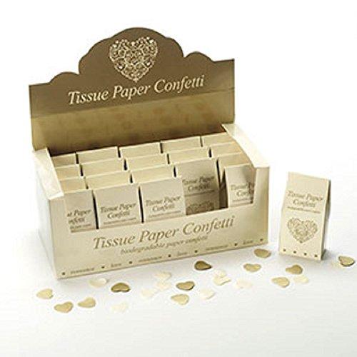 Neviti 593620 Vintage Romance Tissue Confetti, Ivory, One Size