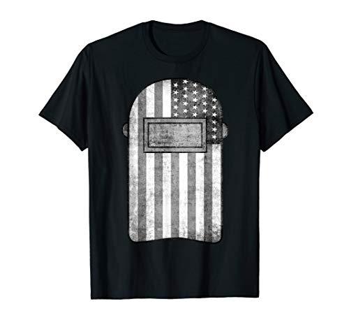 American Welder Shirt | US Flag Welding Hood T-Shirt Gift