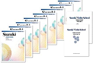 Suzuki Violin School Complete Volumes Set (10 Books) - Volume 1, 2, 3, 4, 5, 6, 7, 8, 9, 10