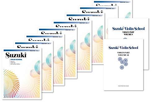 Suzuki Violin School Complete Volumes Set (10 Books) - Volume 1, 2, 3, 4, 5, 6, 7, 8, 9, 10