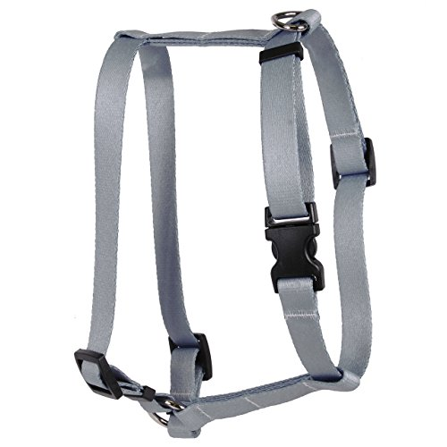 Yellow Dog Design Gray Simple Solid Roman Style H Dog Harness, X-Large/1