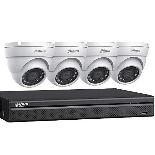 Dahua HDCVI Kit: 4-Ch, 4K Penta-Brid DVR + 4 x 5MP Security Camera, White (C544E42)
