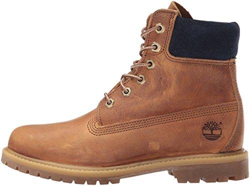 Timberland Women's 6 Inch Premium Boot, Tan Distressed Nubuck, 9 M US