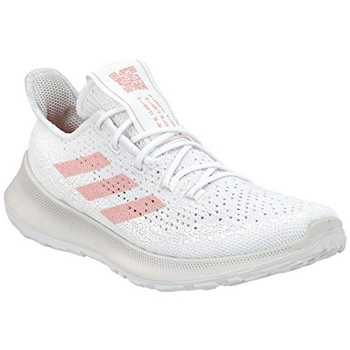 adidas Women's Sensebounce + Summer Ready Running Shoe, White/Pink Spirit/Light Red, 10.5 M US