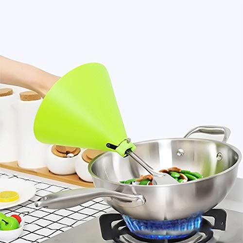 AYRSJCL Los Productos 1pc Verde Gadgets de Cocina para el hogar antiescaldadura Escudos Pala Guantes Herramientas OilProtection